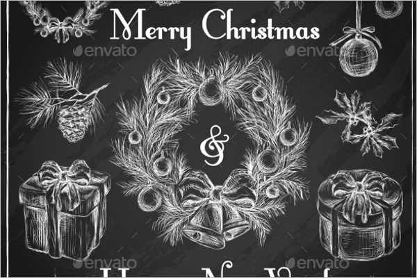 Chalkboard Christmas Decorative Design