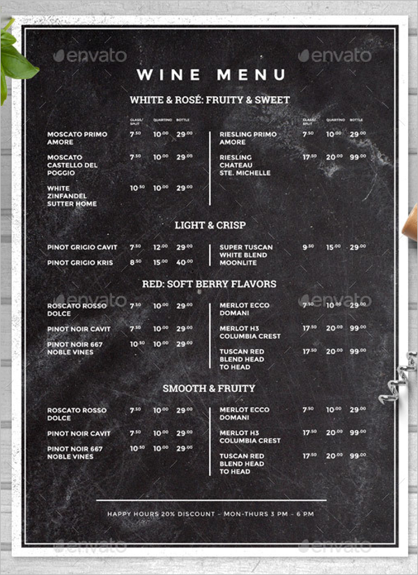 Chalkboard Food Menu Design
