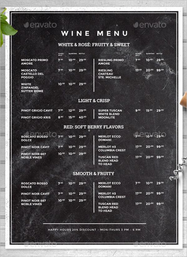 Chalkboard Food Menu Design