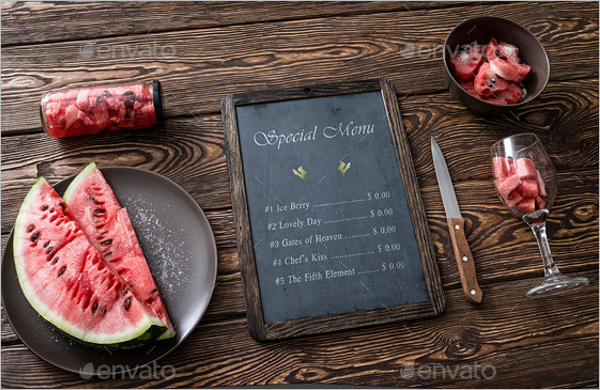 Chalkboard Juice Menu Template