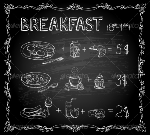 Chalkboard Menu Background Template