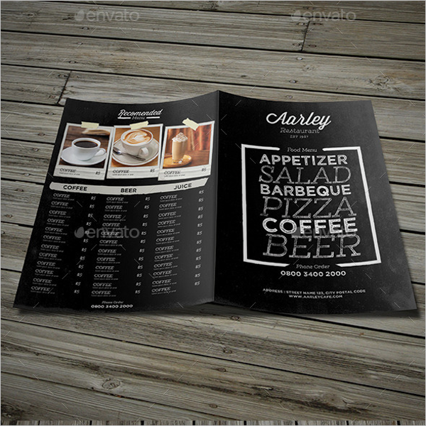 Chalkboard Menu Maker Design
