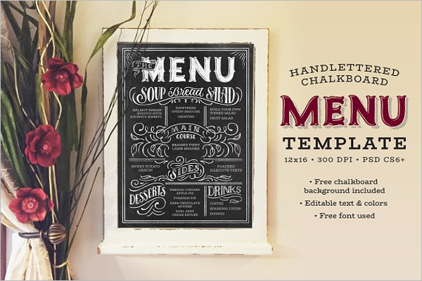Chalkboard Menu Stock Template