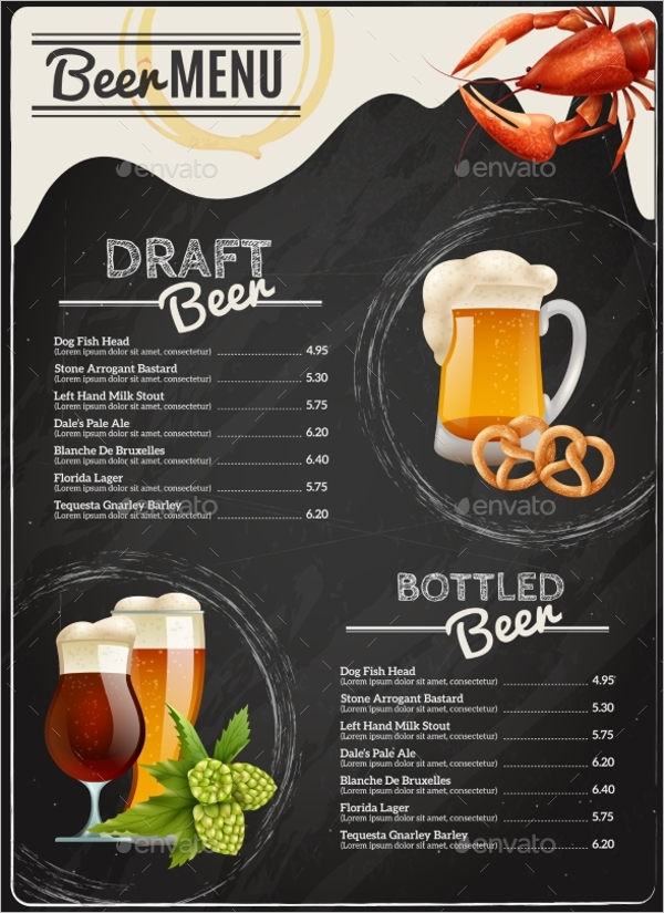 Chalkboard Menu EPS Design