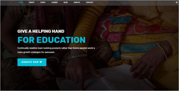 Charity & Church Website Template