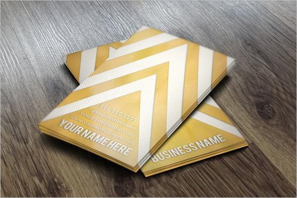 Chevron Business Card Application Design