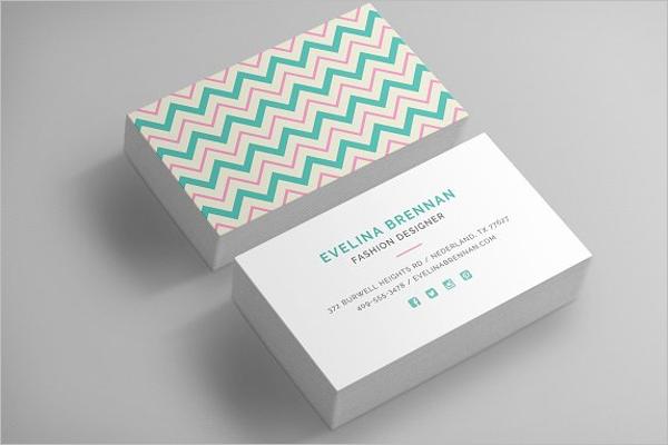 Chevron Business Card Template