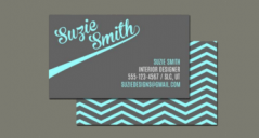 12+ Chevron Business Card Templates