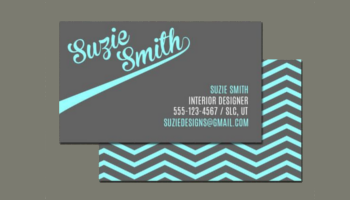 Chevron Business Card Templates