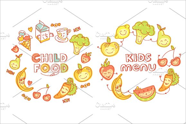 Child Food Menu Design