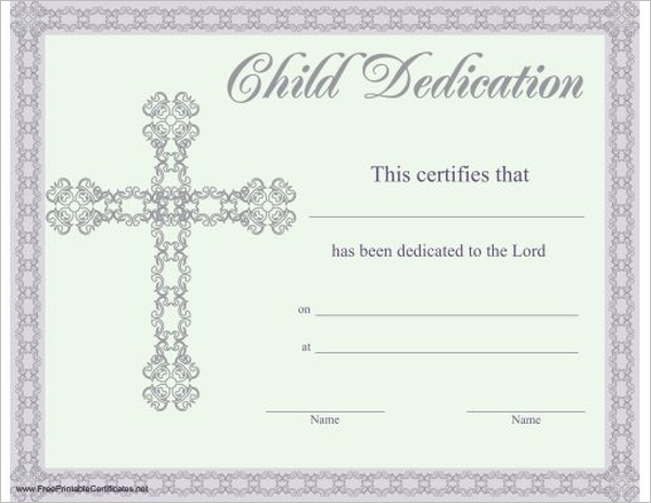 Children Church Certificate Template