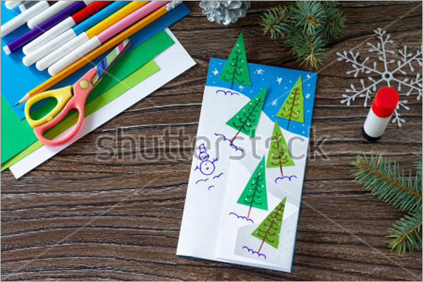 Children Christmas Craft Template