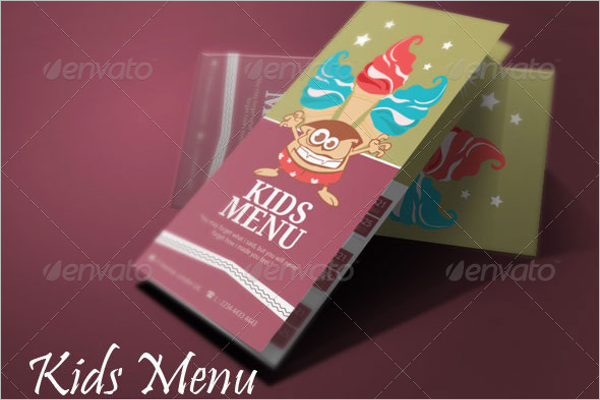 Children Menu Design