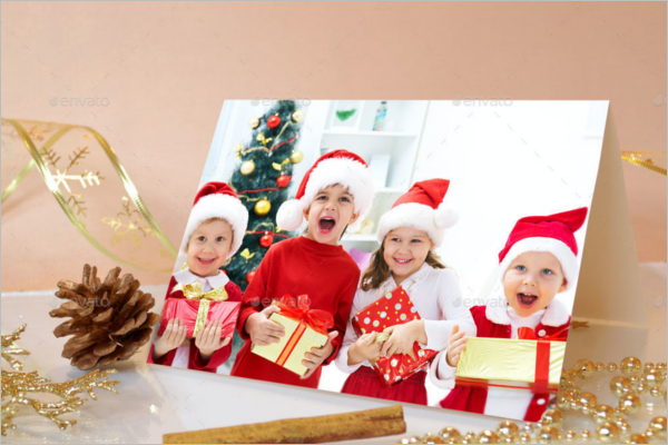 Christmas Card Mockup Design