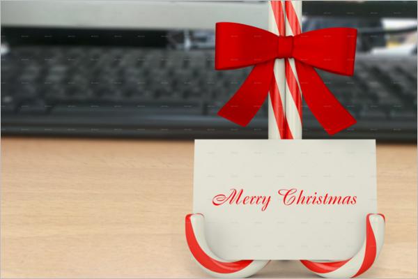 Christmas Card Mockup PSD