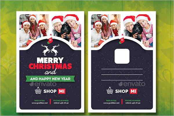 Christmas Postcard Vector Design