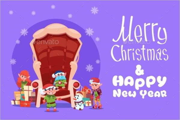 Christmas Art Greeting Card
