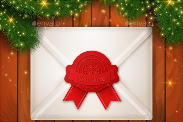 Christmas Background with Envelope