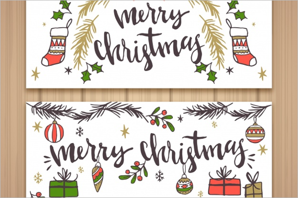 Christmas Banners With Drawings
