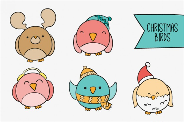 Christmas Birds Icon Collection
