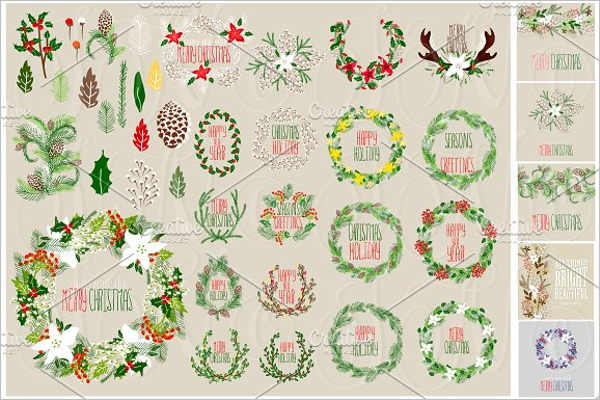 Christmas Cliparts Template