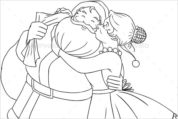 Christmas Coloring Page Design