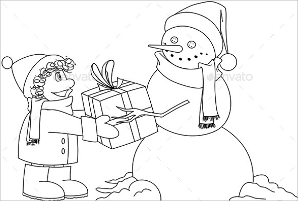 Christmas Coloring Page PDF