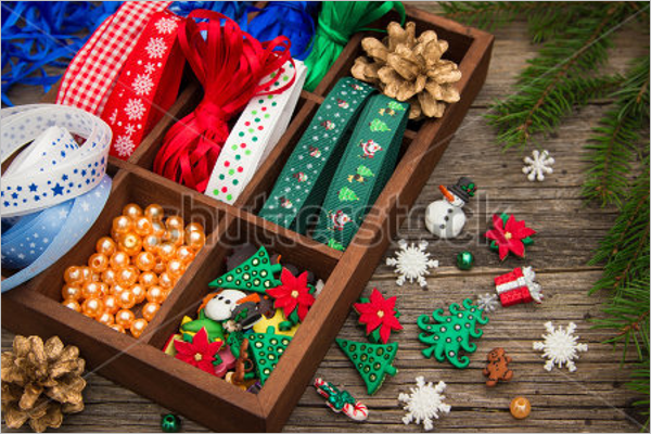 Christmas Crafts In Wooden Box
