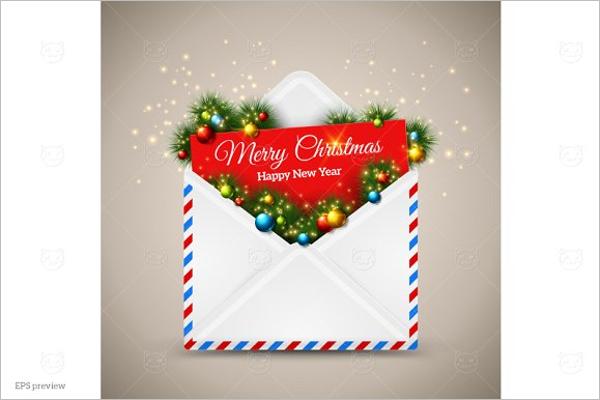 Christmas Decoration Envelope Design