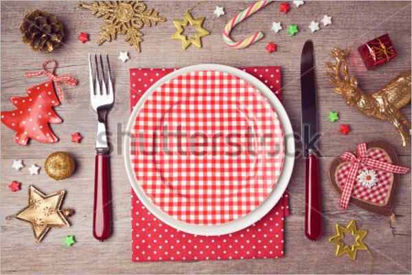Christmas Dinner Menu Template