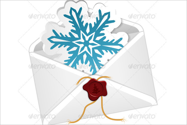 Christmas Email Envelope Template