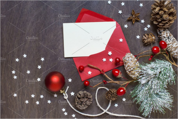 Christmas Envelope Invitation Template