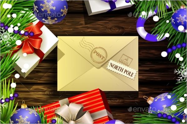 Christmas Envelope Post Card