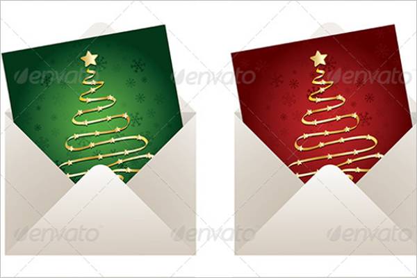 Christmas Envelope Template PSD