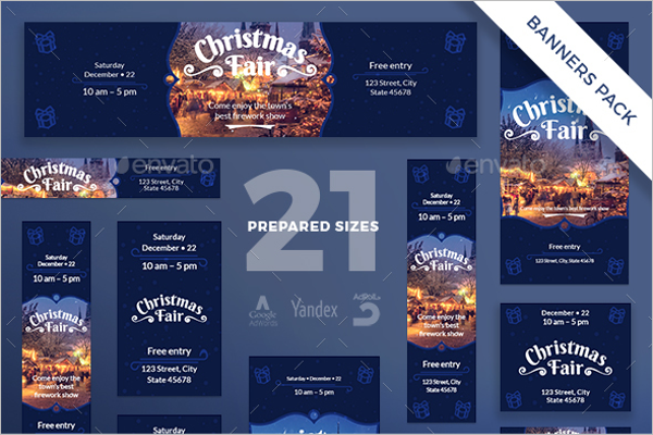 Christmas Fair Banner Pack Design