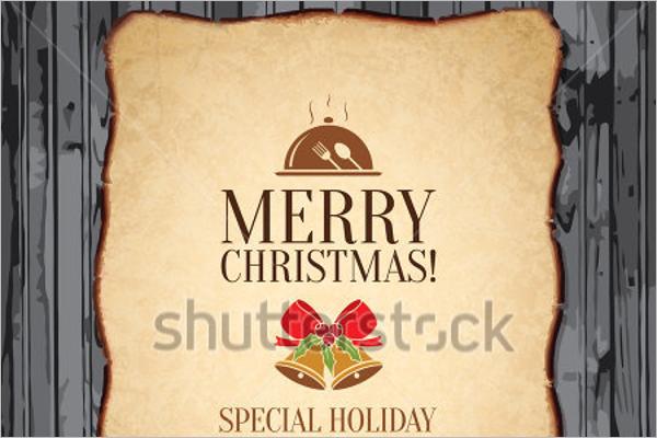 Christmas Festive Menu Design