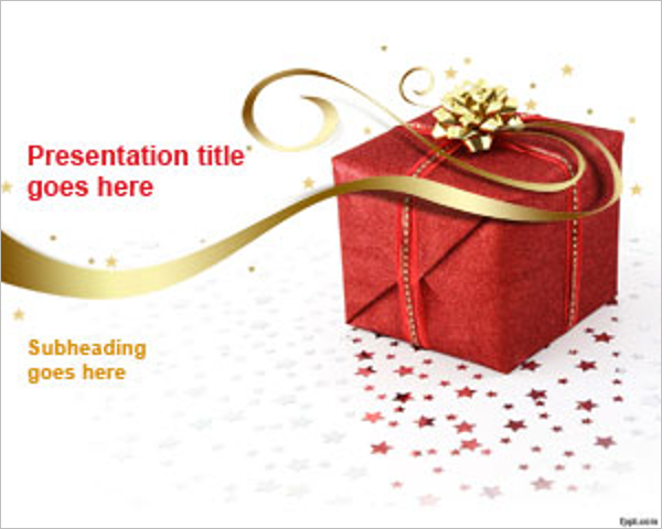 Christmas Gift PPT Template