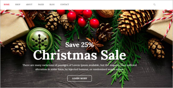 Christmas Gift Shop eCommerce Template