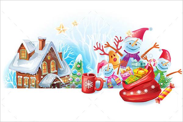 Christmas Greeting Card Drawing
