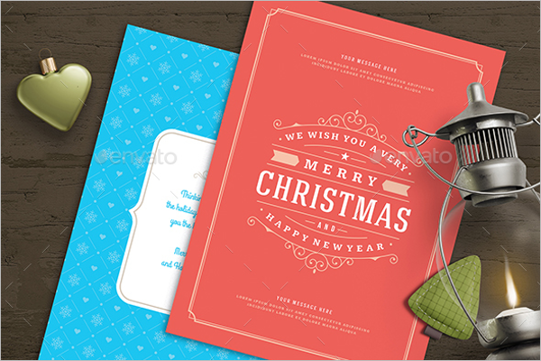 Christmas Greeting Card Template