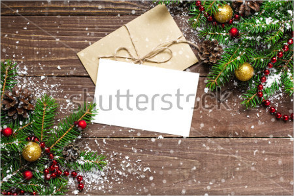 Christmas Greeting Card With Envelope