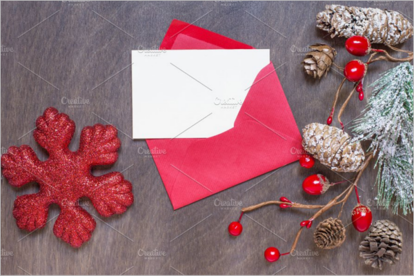 Christmas Holiday Envelope Design