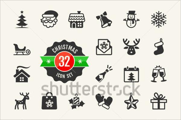Christmas Icons Background Free