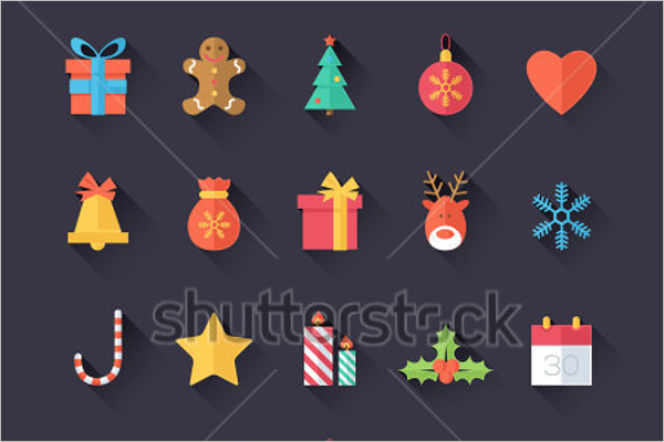 Christmas Icons Isolated Design