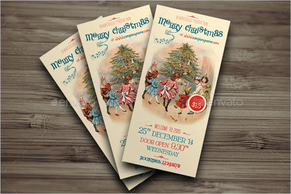 Christmas Invitation Card Design