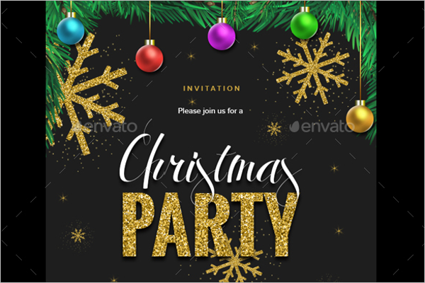 Christmas Invitation Template PSD