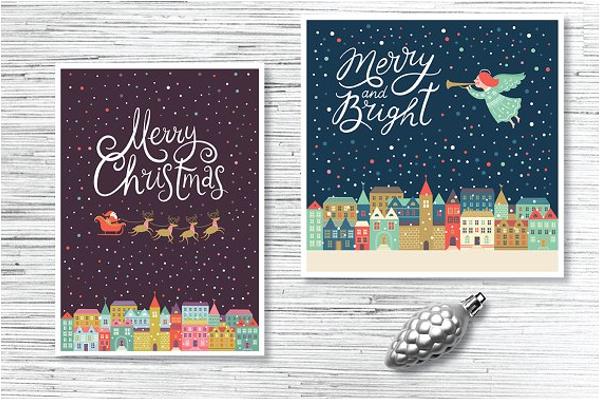 Christmas Menu Background Design