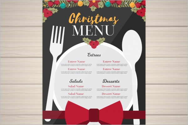 Christmas Menu Background Template