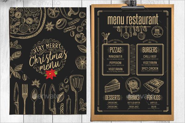 Christmas Menu Restaurant