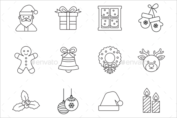 Christmas Outlines Vector Icon